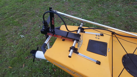 Island Hopper Transom-Mount Motor for Jackson Kayaks without Rudder Systems - [price] | Trolling Motors Online