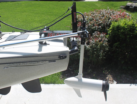 Island Hopper Transom-Mount Motor for Hobie Pro Angler 17T Kayaks without Rudder Systems - [price] | Trolling Motors Online