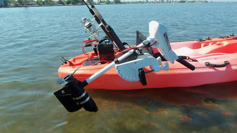 Island Hopper Motor Mount/Kayak Motor Combo for Most Kayaks - [price] | Trolling Motors Online