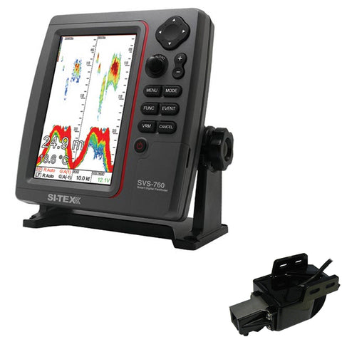 SI-TEX SVS-760 Dual Frequency Sounder 600W Kit w/Transom Mount Triducer