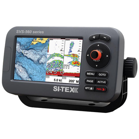 "SI-TEX SVS-560CF Chartplotter - 5"" Color Screen w/Internal GPS & Navionics+ Flexible Coverage"