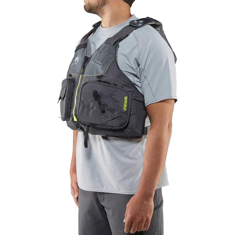 NRS Chinook Fishing Kayak Lifejacket (PFD)-Charcoal-L/XL