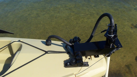 Island Hopper Transom-Mount Motor for Most Kayaks with Existing Rudders & In-Hull Cables - [price] | Trolling Motors Online