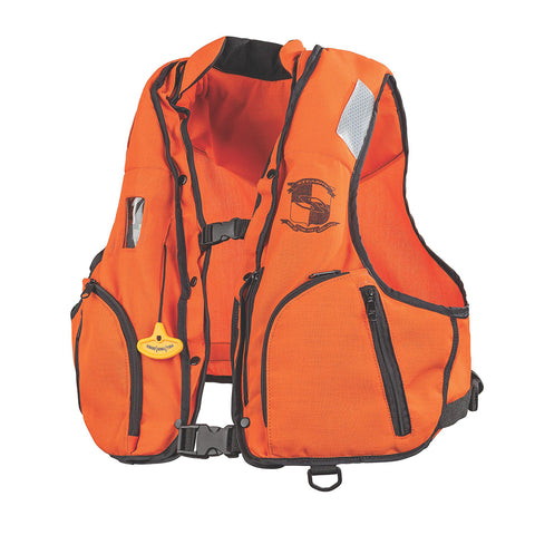 Stearns Manual Inflatable Vest w/Nomex® Fabric - Orange/Black - L/XL