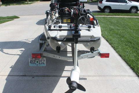 Island Hopper Transom-Mount Motor for Vibe Kayaks without Rudder Systems - [price] | Trolling Motors Online