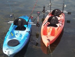 Island Hopper Deluxe Kayak Motor Mount - Most Kayaks - [price] | Trolling Motors Online