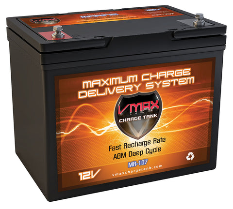 MR107-85 Group 24 12V 85AH AGM Deep Cycle Battery - 1130WH - [price] | Trolling Motors Online