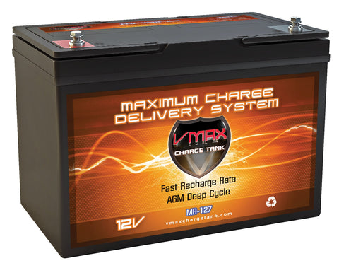 MR127-100 Group 27 12V 100Ah AGM Deep Cycle Battery - 1330WH - [price] | Trolling Motors Online