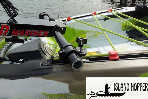 Island Hopper Transom-Mount Motor for FeelFree Lure and Moken Kayaks with Existing Rudders & Exposed Cables - [price] | Trolling Motors Online