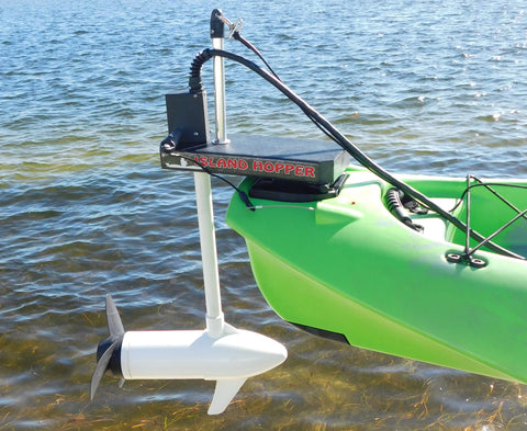 Island Hopper Transom-Mount Motor for Power Pole Ready Kayaks with rudders