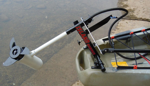 Island Hopper Transom-Mount Motor for Most Kayaks without Existing Rudder Systems