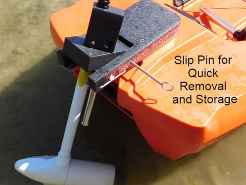 Island Hopper Transom-Mount Motor for Power Pole Ready Kayaks without rudders