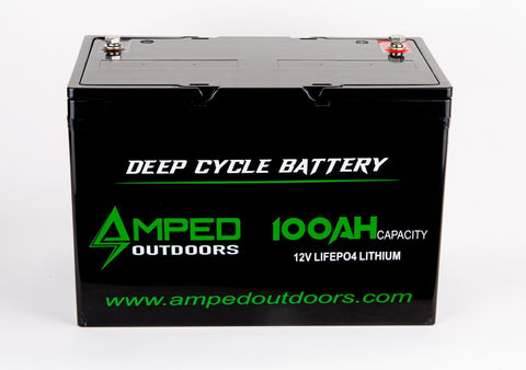 Amped Outdoors 12V 100AH Lithium-ion (LiFePO4) Battery — Available January 20201