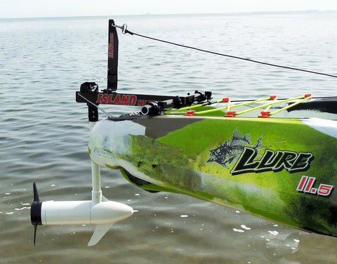 Island Hopper Transom-Mount Motor for FeelFree Lure 13.5 and Moken 14.5 Kayaks with Existing Rudders