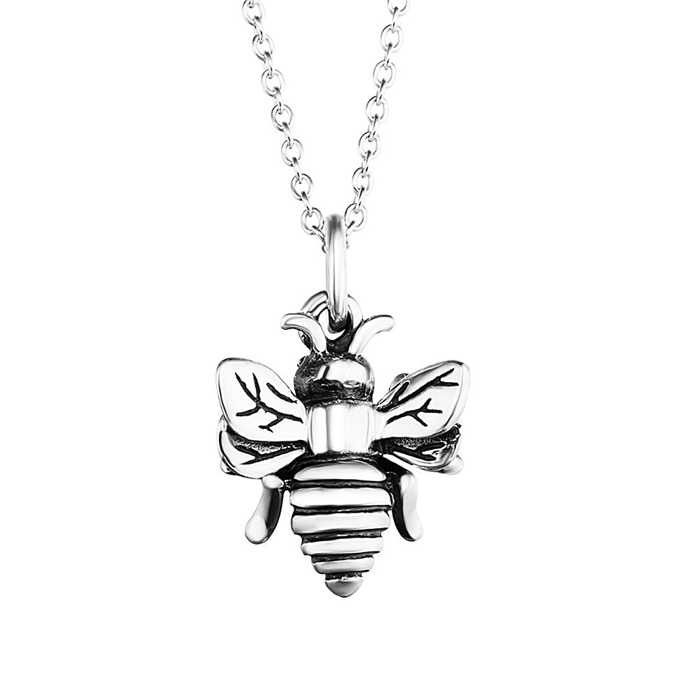 Honey bee pendant queen bee bumblebee charm necklace flashsilver aloadofball Images