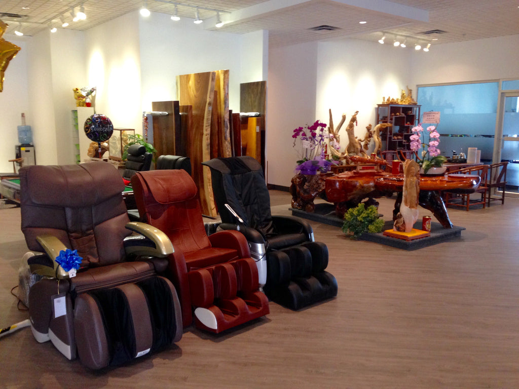 Massage chairs in Richmond showroom