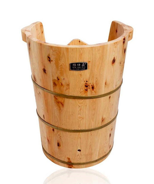 Knee High Tall Cedar Foot Spa Bucket Z-012A - Youneed Massage Chair Richmond Vancouver Canada