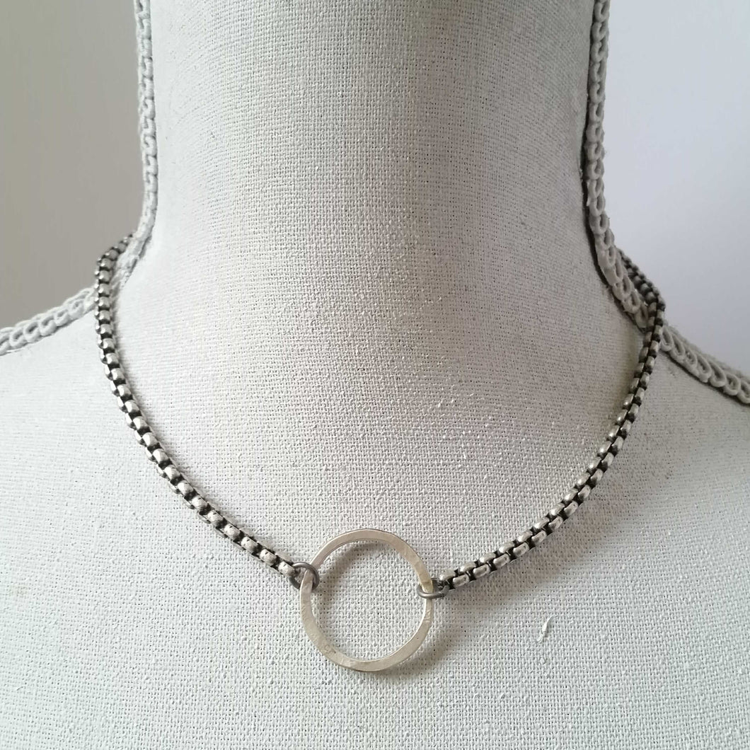 Modern  O necklace - Michelle Rhodes handmade mindful jewelry
