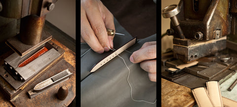 Leather Watch Band Production 1