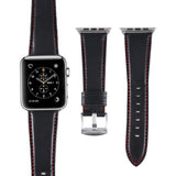 Marzi Poco US Horween Premium Leather Watch Strap for Apple Watch Series 1, 2 & 3 (Gentleman Black) - Premium leather Apple Watch Band,   - Premium leather Apple Watch Band, marzipoco - Marzi Poco, marzi poco  - Marzi Poco