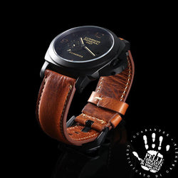 Marzi Poco Premium Quality Italian Toscana Leather Watch Strap for PANERAI (Milite Brown) - Premium leather Apple Watch Band,   - Premium leather Apple Watch Band, marzipoco - Marzi Poco, marzi poco  - Marzi Poco