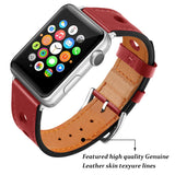 Marzipoco Sport Watch Strap Compatible with Apple Watch Band 38mm 40mm 42mm 44mm, Soft Leather Sport Band Wrist Strap Replacement for iWatch All Series, Nike+, Sport,Edition (Red)