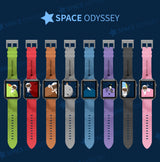Marzi Poco Space Odyssey Premium Leather Watch Strap for Apple Watch Series 1, 2, 3 & 4 (Blue)