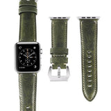 Marzi Poco Premium Quality Italian Toscana Leather Watch Strap for Apple Watch Series 1 ,2 & 3 (Cedro Green) - Premium leather Apple Watch Band,   - Premium leather Apple Watch Band, marzipoco - Marzi Poco, marzi poco  - Marzi Poco