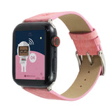 Marzi Poco Space Odyssey Premium Leather Watch Strap for Apple Watch Series 1, 2, 3 & 4 (Pink)