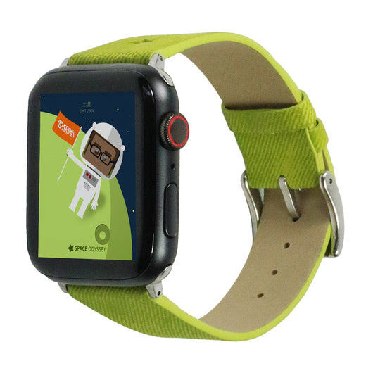 Marzi Poco Space Odyssey Premium Leather Watch Strap for Apple Watch All Series (Green)