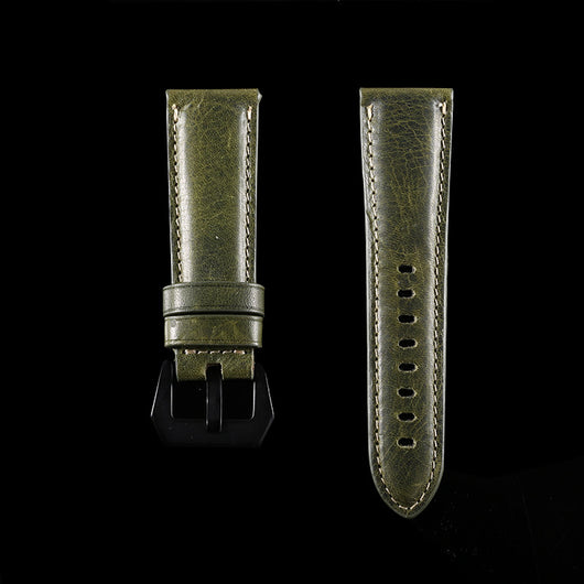 Marzi Poco Premium Quality Italian Toscana Leather Watch Strap for PANERAI (Cedro Green) - Premium leather Apple Watch Band,   - Premium leather Apple Watch Band, marzipoco - Marzi Poco, marzi poco  - Marzi Poco