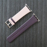 Marzi Poco Premium Leather Watch Strap with Metal Clasp for Apple Watch All Series (Pink & Purple)