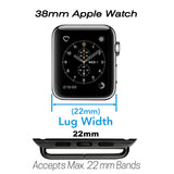 Stainless Steel Buckle & Adapter for Apple Watch Series 1, 2 & 3 (38mm,Space Black) - Premium leather Apple Watch Band,   - Premium leather Apple Watch Band, marzi poco - Marzi Poco, marzi poco  - Marzi Poco