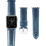 Marzi Poco Premium Quality Italian Toscana Leather Watch Strap for Apple Watch Series 1 ,2 & 3 (Naro Blue) - Premium leather Apple Watch Band,   - Premium leather Apple Watch Band, marzipoco - Marzi Poco, marzi poco  - Marzi Poco