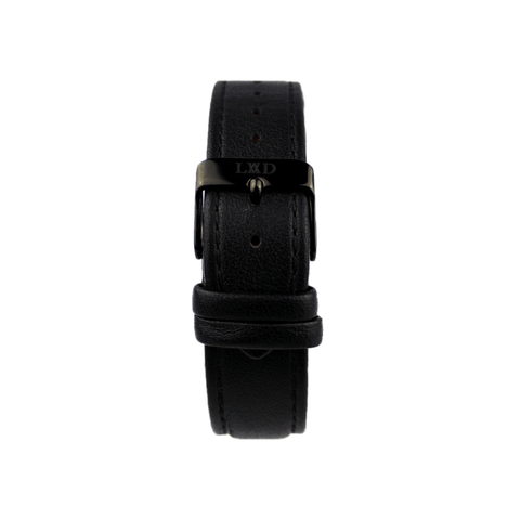 Black Interchangeable Leather Strap