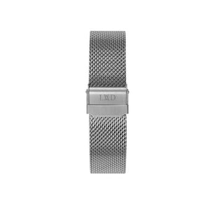 silver stainless steel mesh interchangeable watch strap