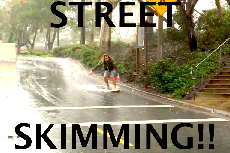 Skimming in the Street!