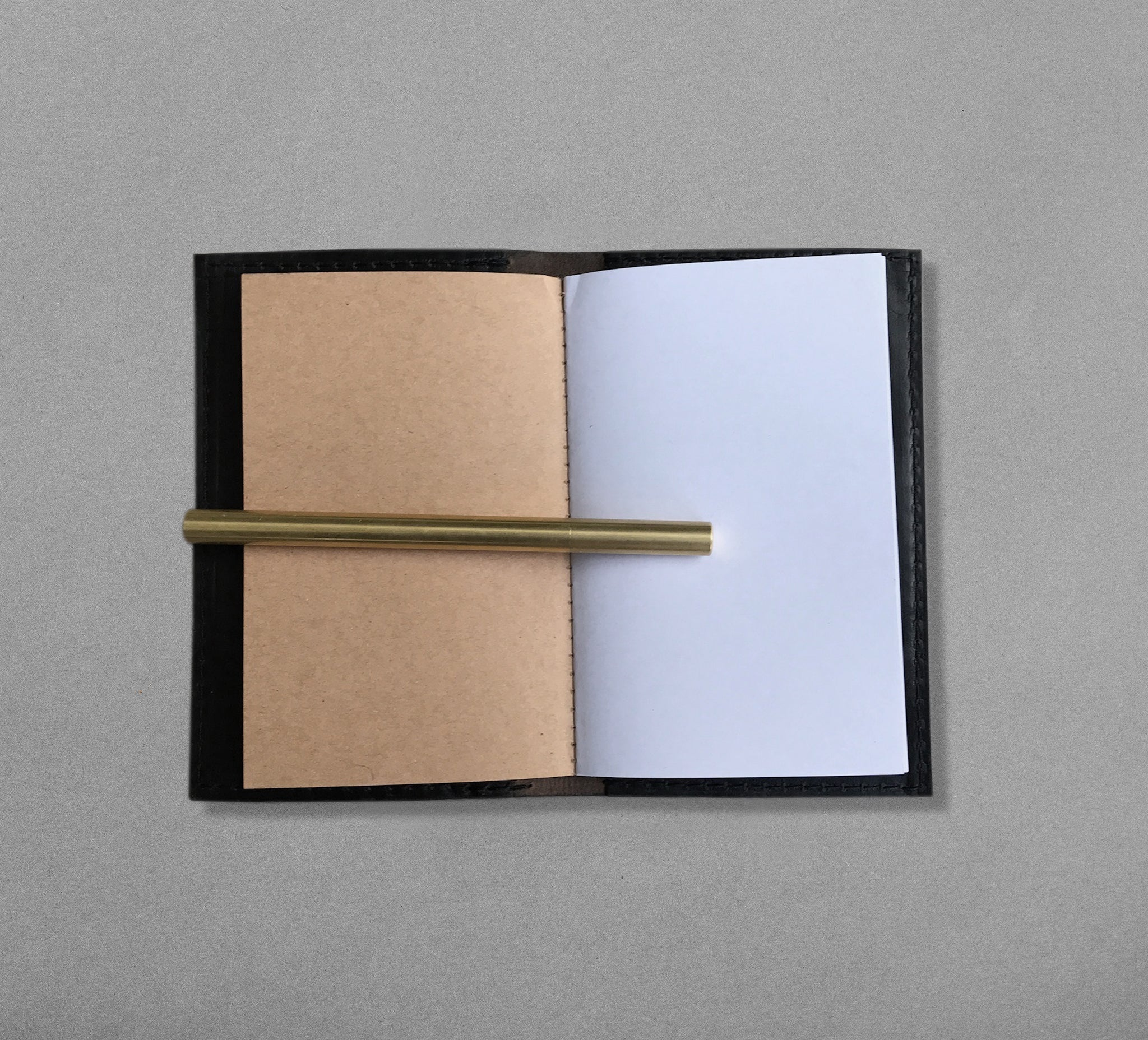 6 inch Leather Notebook with pen