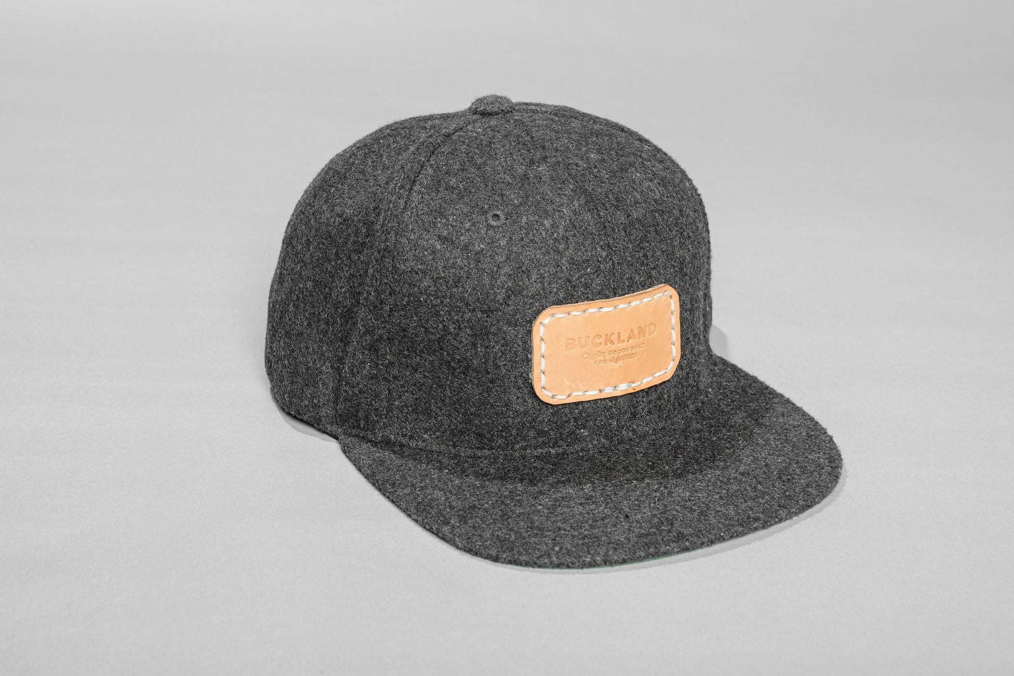 Wool Hat with Leather Patch