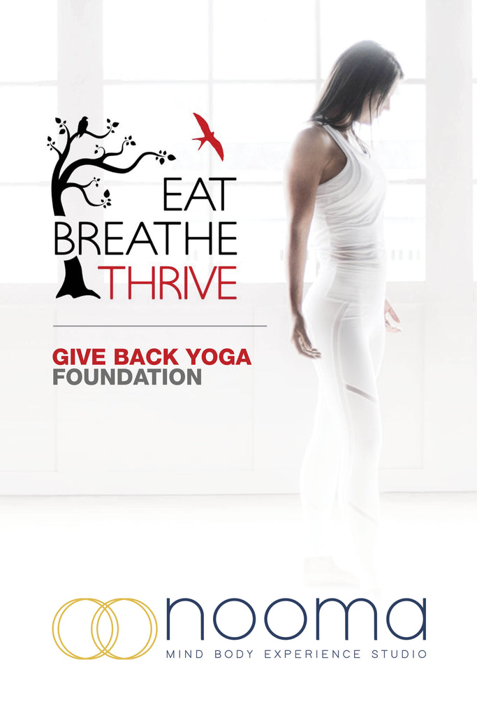 nooma + givebackyoga + eat. breathe. thrive.