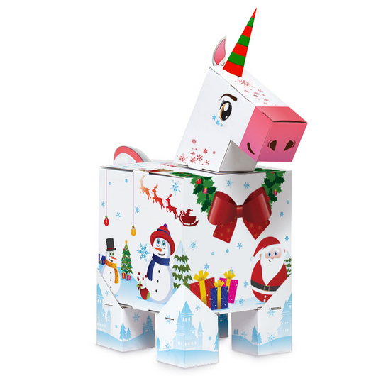 Christmas Unicorn Gift Box [SOLD OUT] - Gift Wrap Labs