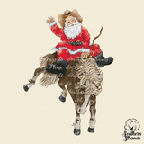 Santa Horse Rider Country Sublimation Transfer