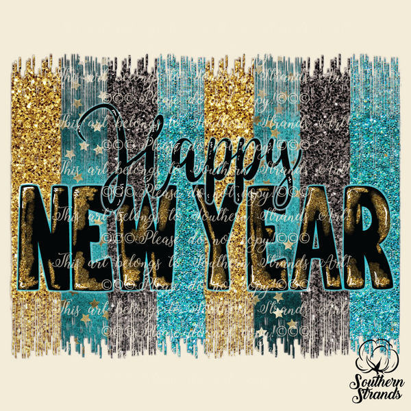 Happy New Year Sublimation Transfer