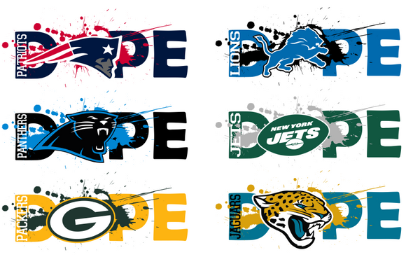 NFL Football DOPE BUNDLE 32 TEAMS SVG PNG Digital Design