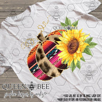 Serape Cheetah Floral Pumpkin Sublimation Transfer