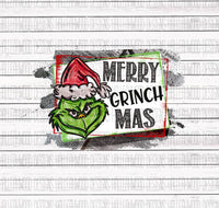 Merry Grinch Mas Sublimation Transfer