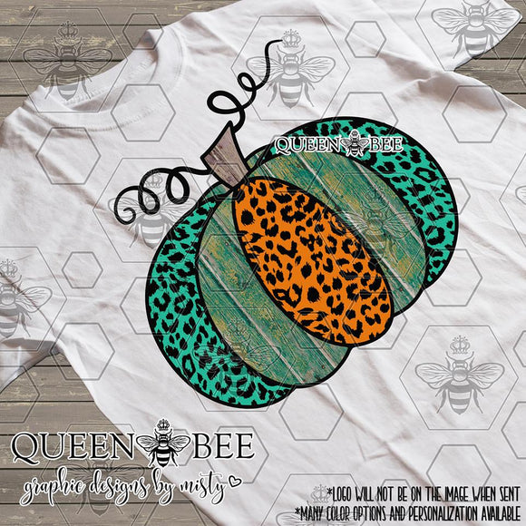 **SALE** Cheetah Floral Pumpkin Sublimation Transfer