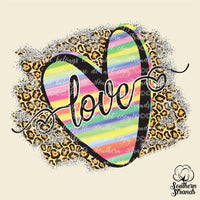 Love Cheetah Heart Sublimation Transfer
