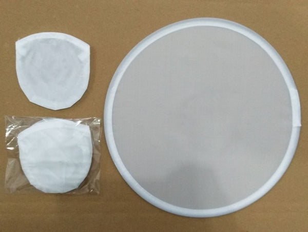 Blank White Fan Frisbee Sublimation Circle with Pouch