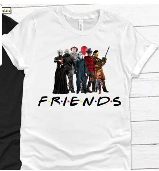 Halloween Horror Crew Friends Scary movies Sublimation Transfer
